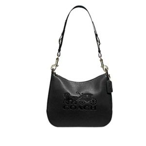 Coach Jes Blk Hobo Horse & Carriage New With Tag